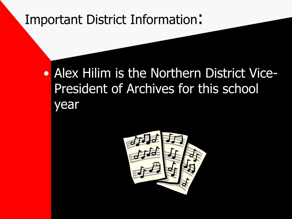 Important District Information