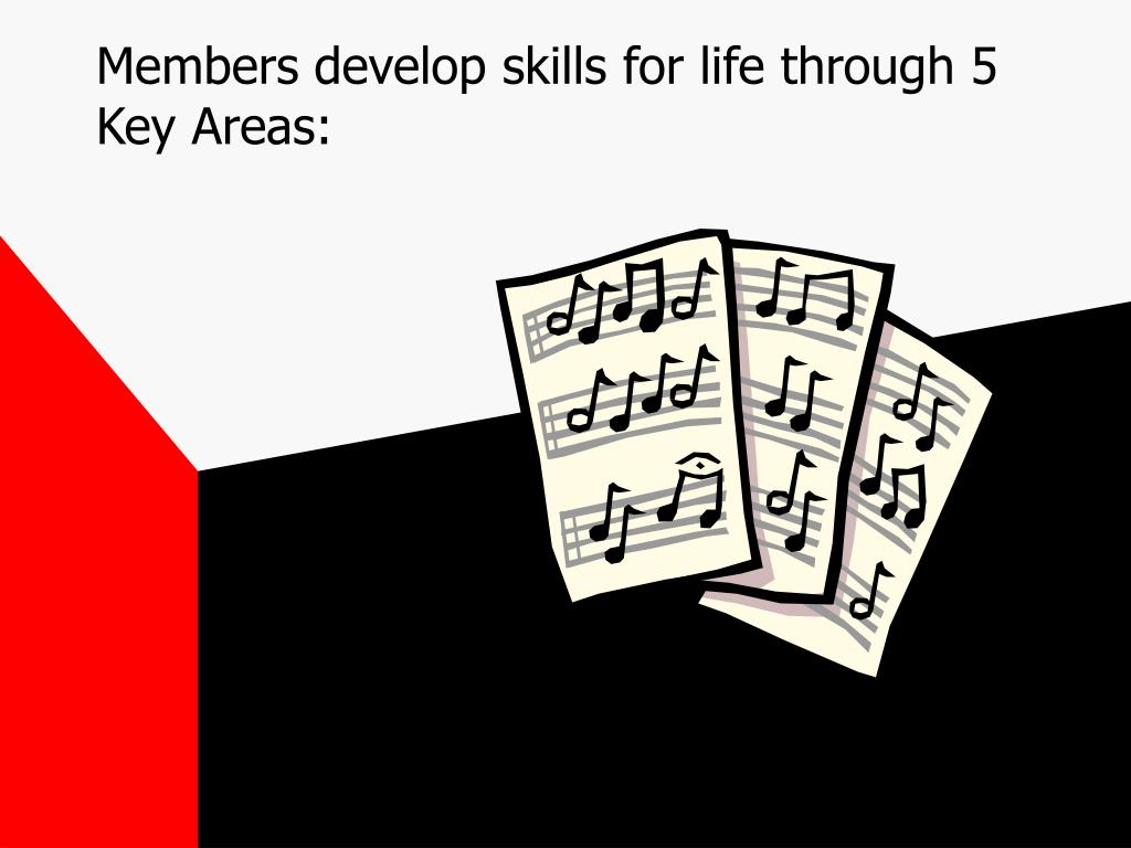 Members develop skills for life through 5 Key Areas:
