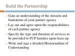 build the partnership