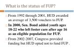 what is the status of fup