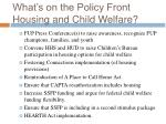 what s on the policy front housing and child welfare