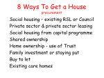 8 ways to get a house procurement