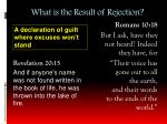 what is the result of rejection