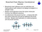 branched chain alkanes constitutional isomers