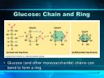 glucose chain and ring