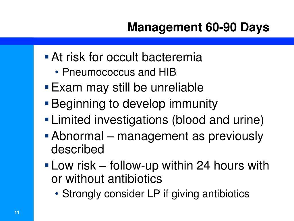 Management 60-90 Days