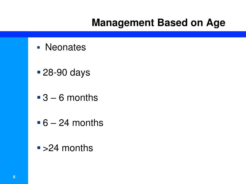 Management Based on Age