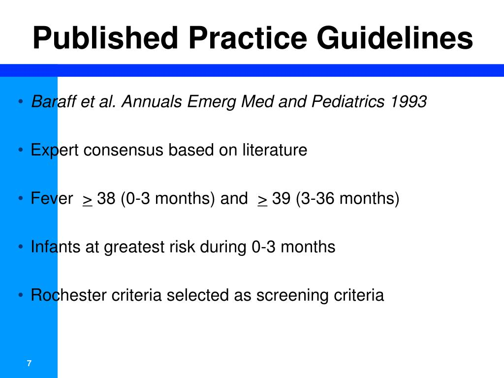Published Practice Guidelines