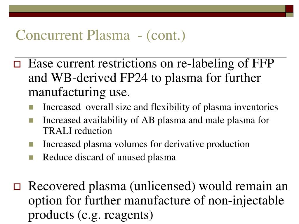Concurrent Plasma  - (cont.)