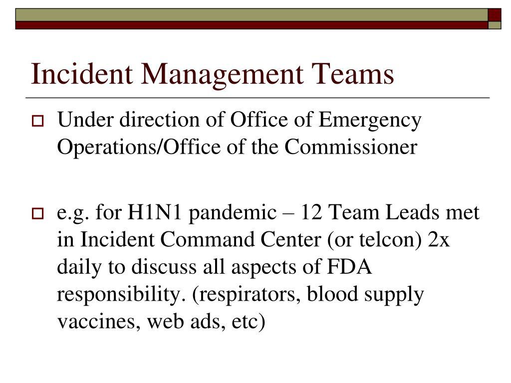 Incident Management Teams