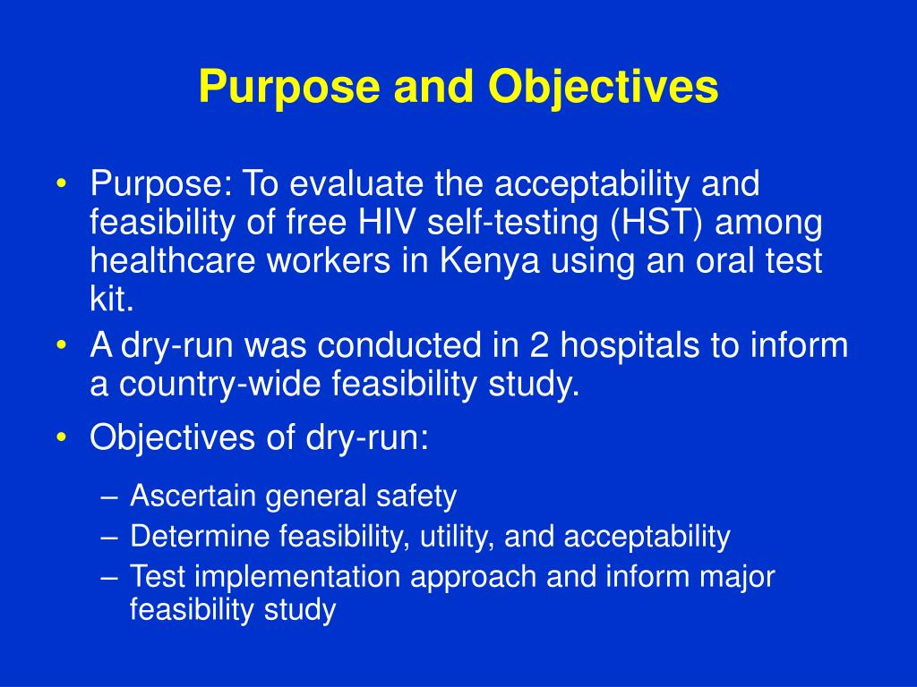 purpose of feasibility study pdf