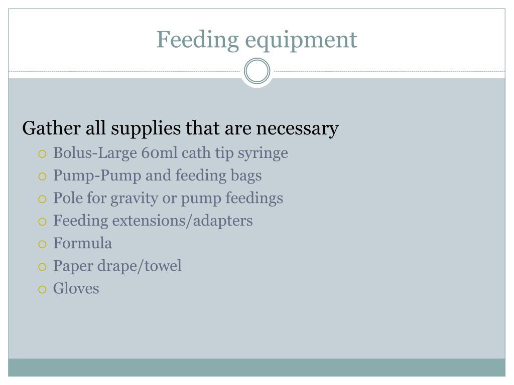 Feeding equipment