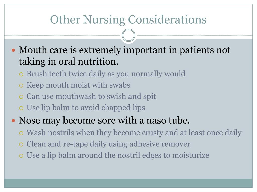 Other Nursing Considerations