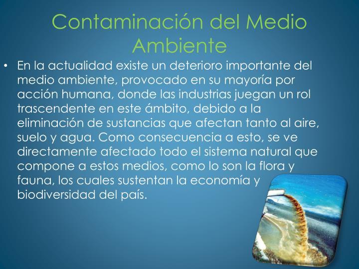 Contaminaci n del medio ambiente