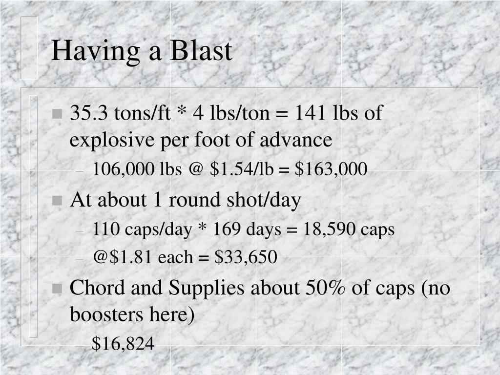 Having a Blast