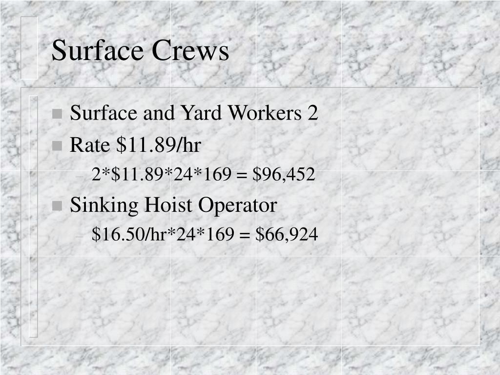 Surface Crews