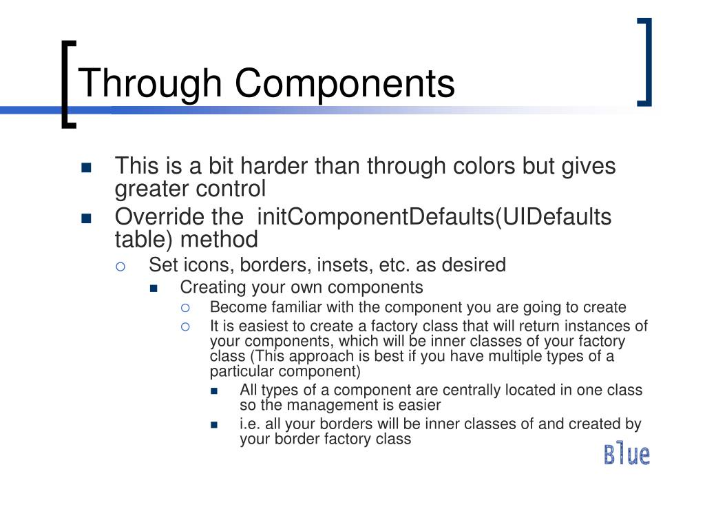 Through Components