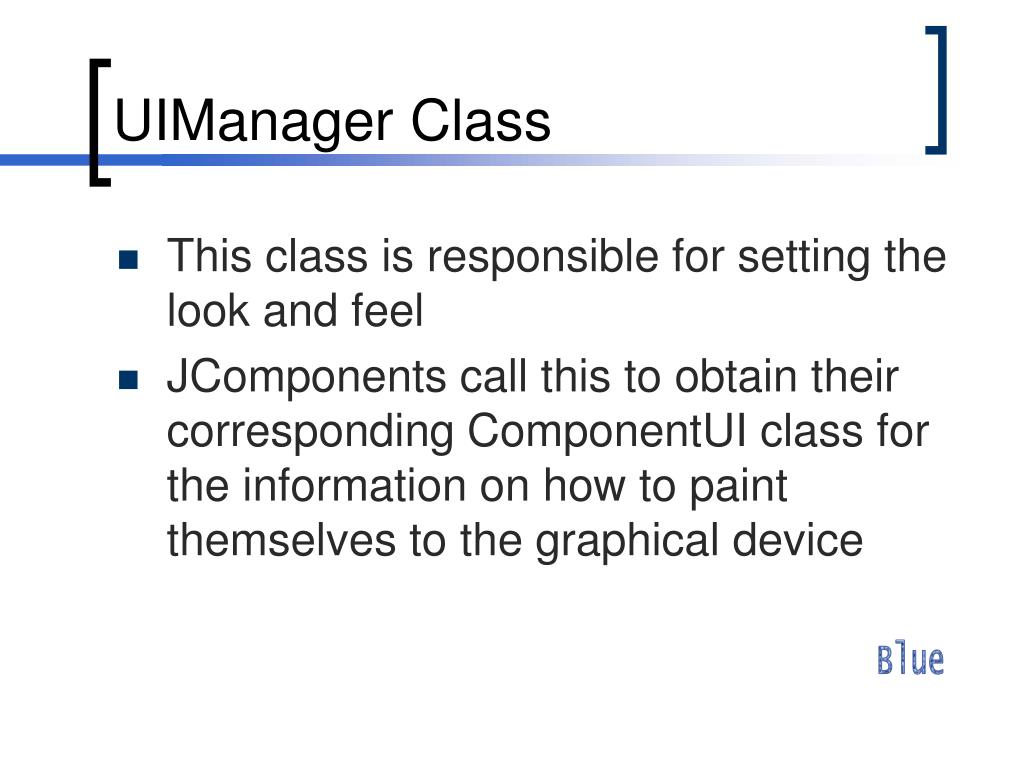 UIManager Class