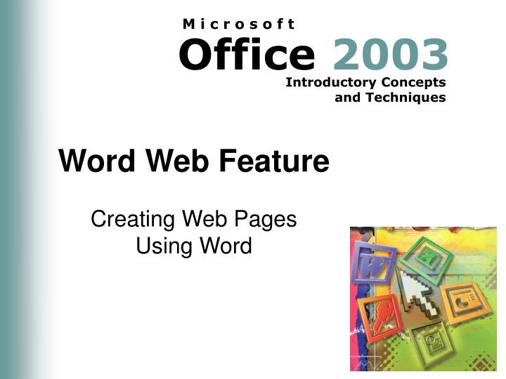 word web feature n.