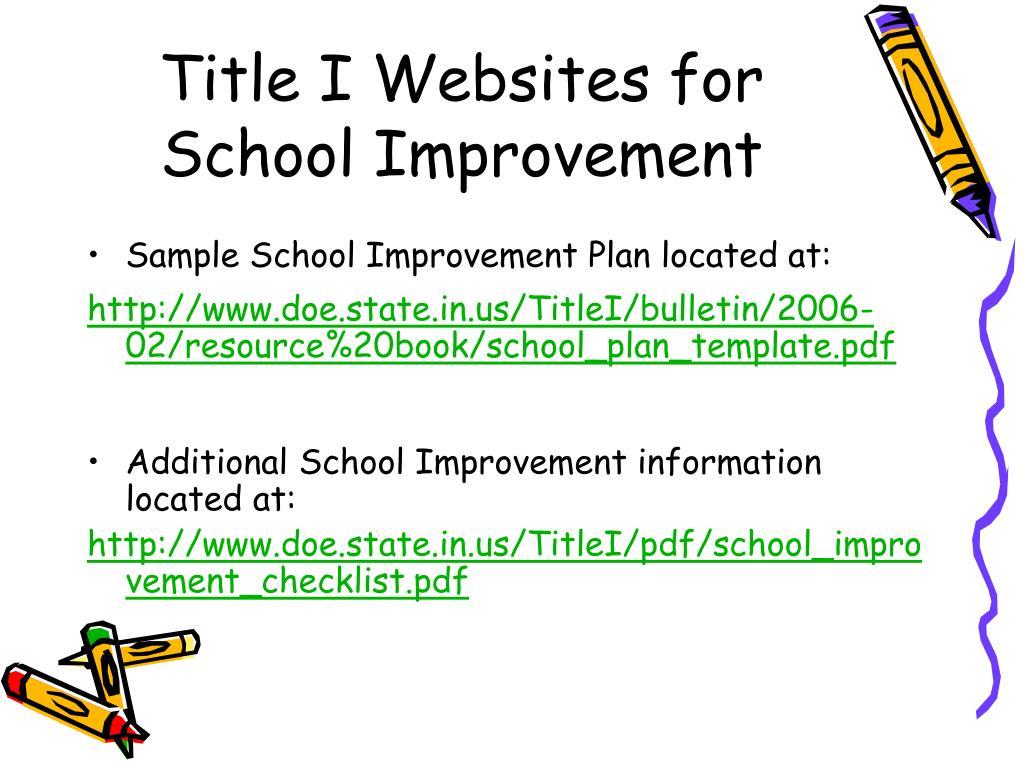 Title I Websites for School Improvement
