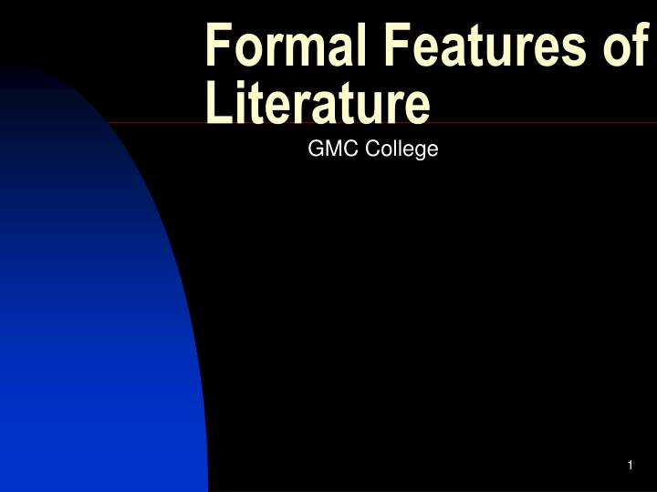 formal features of literature n.