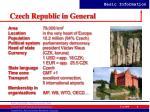 czech republic in general