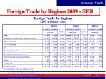 foreign trade by regions 2009 eur