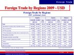 foreign trade by regions 2009 usd