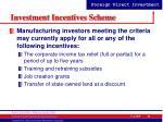 investment incentives scheme