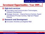 investment opportunities year 200934