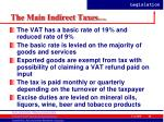 the main indirect taxes