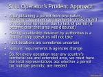 ship operator s prudent approach