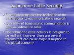 submarine cable security