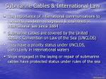 submarine cables international law