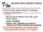 board recorder week