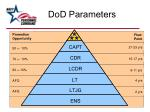 dod parameters