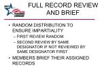 full record review and brief