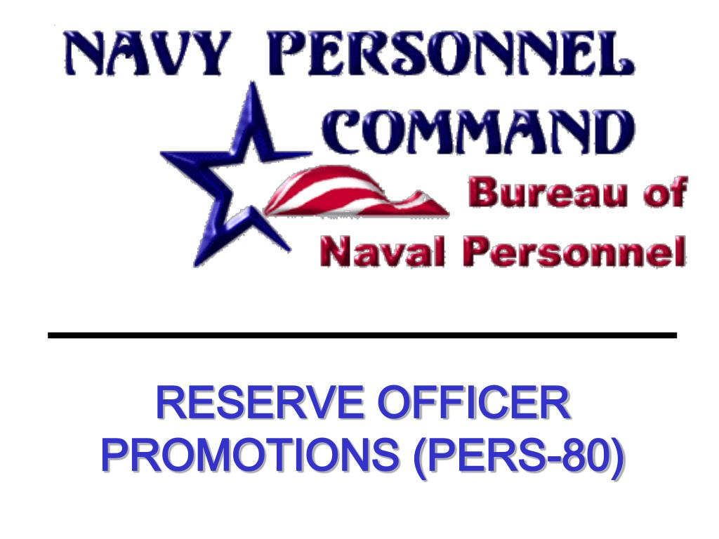 reserve officer promotions pers 80 l.