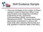 skill guidance sample