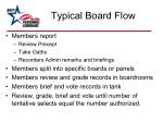 typical board flow