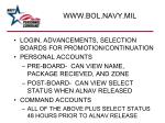 www bol navy mil