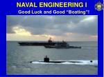naval engineering i