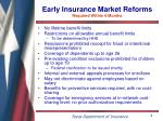 early insurance market reforms required within 6 months