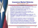 insurance market reforms effective january 1 2014