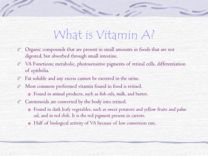What is vitamin a