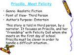 priscilla meet felicity