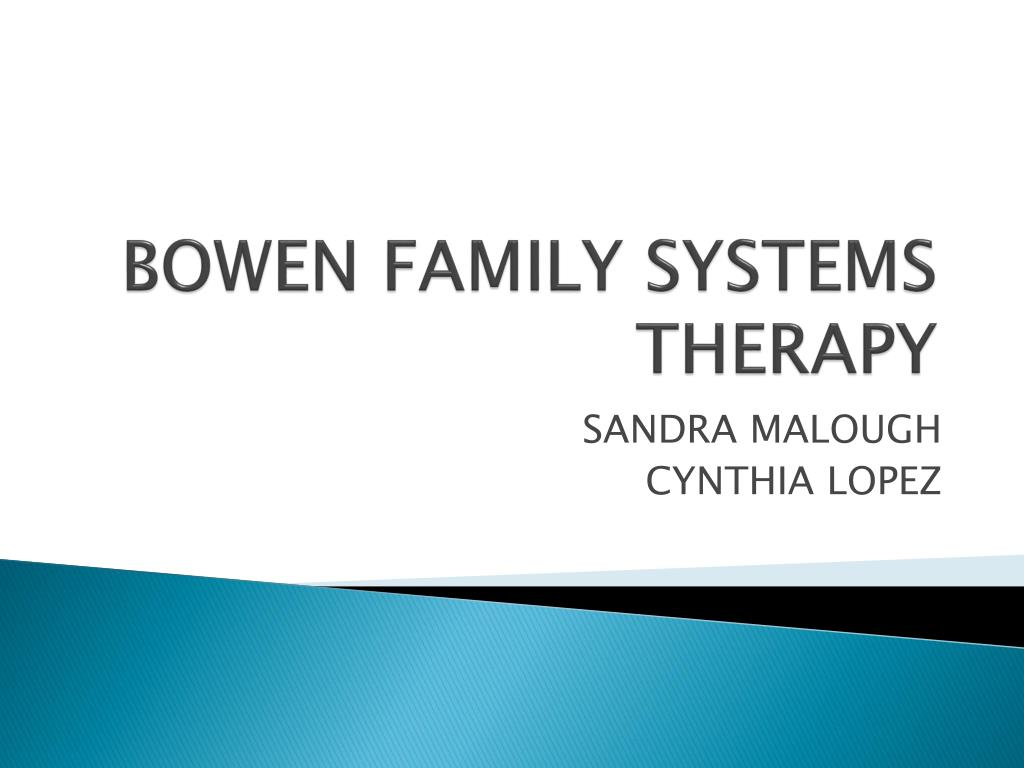 bowen family systems therapy essay Read this essay on bowen family systems theory and practice: illustration and critique come browse our large digital warehouse of free sample essays get the knowledge you need in order to pass your classes and more.