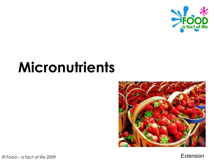 micronutrients necessary for longevity and quality of life Micronutrient testing at eulo chiropractic center some of the most influential elements in our lives are those we're not typically aware of -- including the tiny but significant amounts of substances known as micronutrients in our bodies.