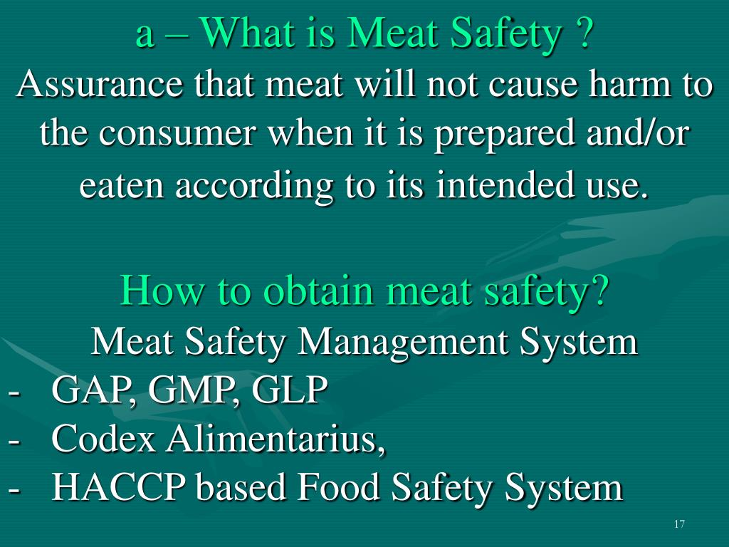 a – What is Meat Safety ?