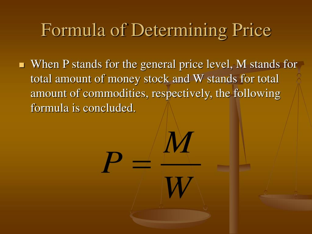 Formula of Determining Price
